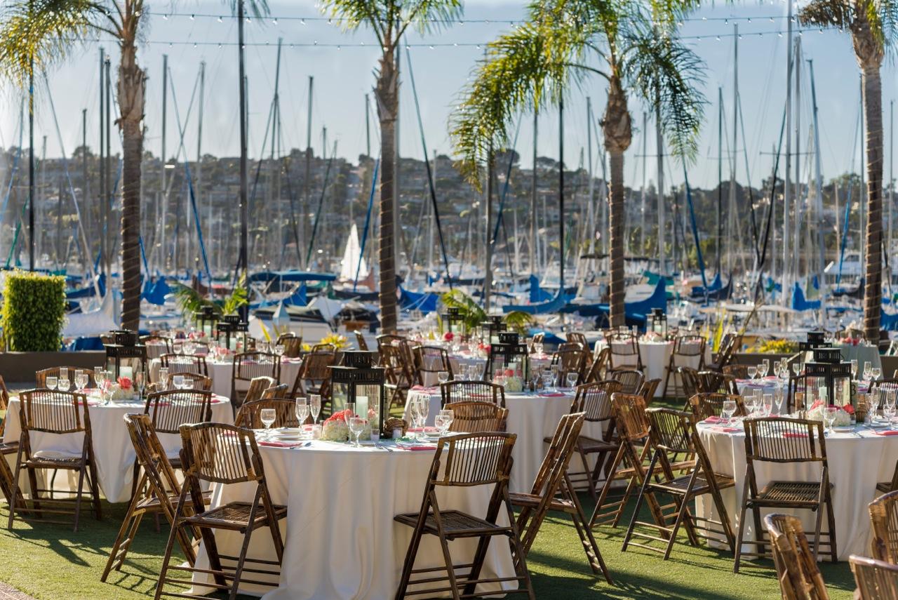 Humphreys makes beautiful [very San Diego!] weddings right on the bay!