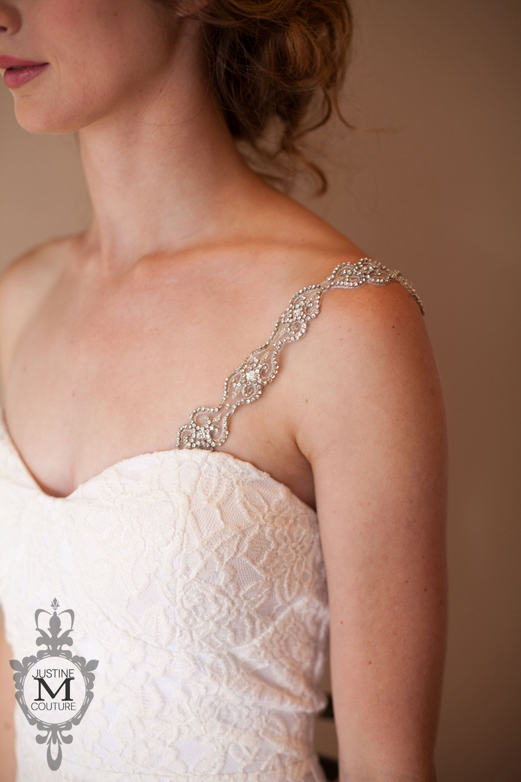 the Viviana gown adornment [pair of 2] by Justine M Couture