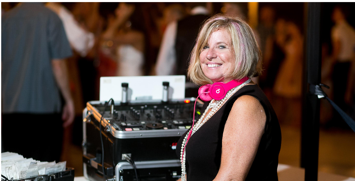 "the lovely Merrylin Brichmann ""Lady DJ"" of Artistic Productions"