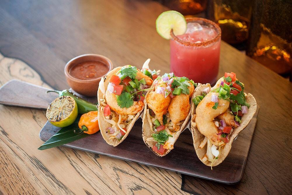 At Coasterra you'll notice some old favorites like fish tacosand some exciting twists!