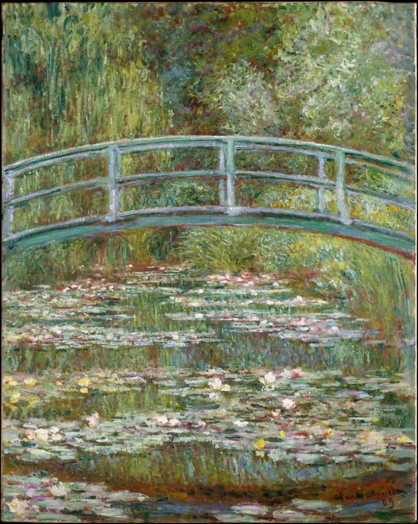 Claude Monet, Bridge Over a Pond of Water Lilies (1899)