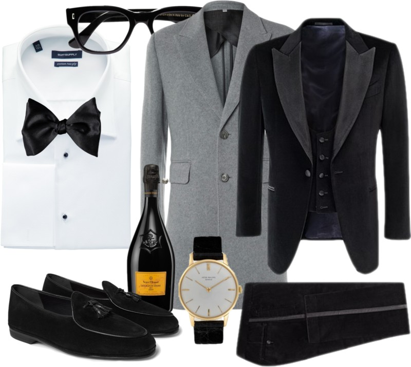 gorgeous black tie formal wear with a European flair
