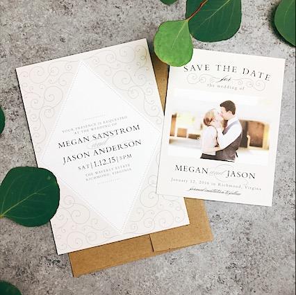 Basic Invites Wedding Thank you Cards