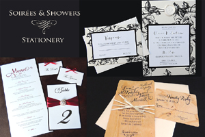 Soirees & Showers Stationery