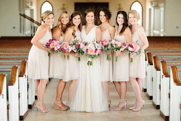 37e0860226 Dessy-Beige-bridesmaids-dresses-with-pink-bouquets-Tucker-