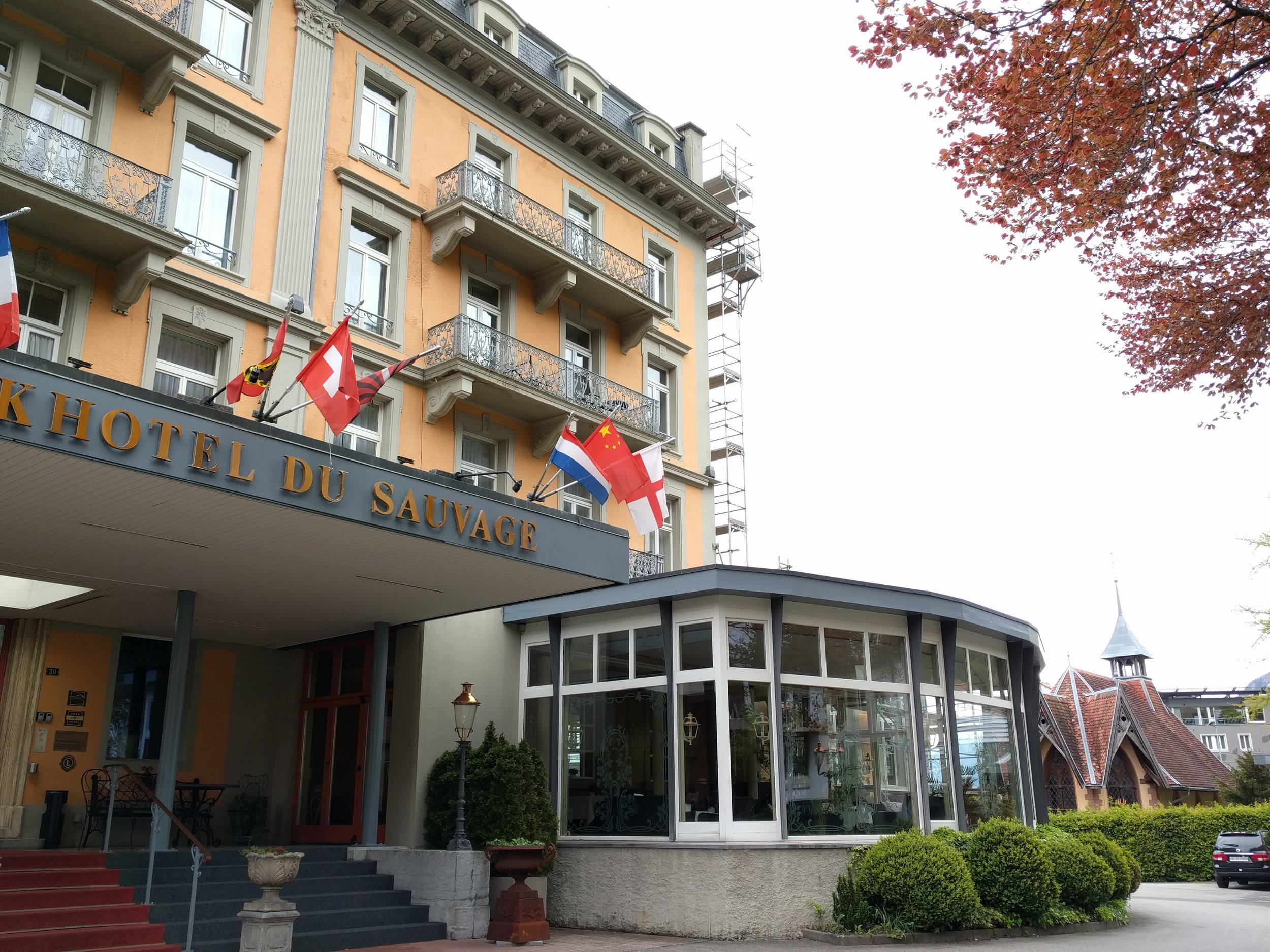 This is the real hotel where the fake Holmes and Watson slept the night before their fateful climb up to the Reichenbach Falls, where someone would meet his DOOOM!