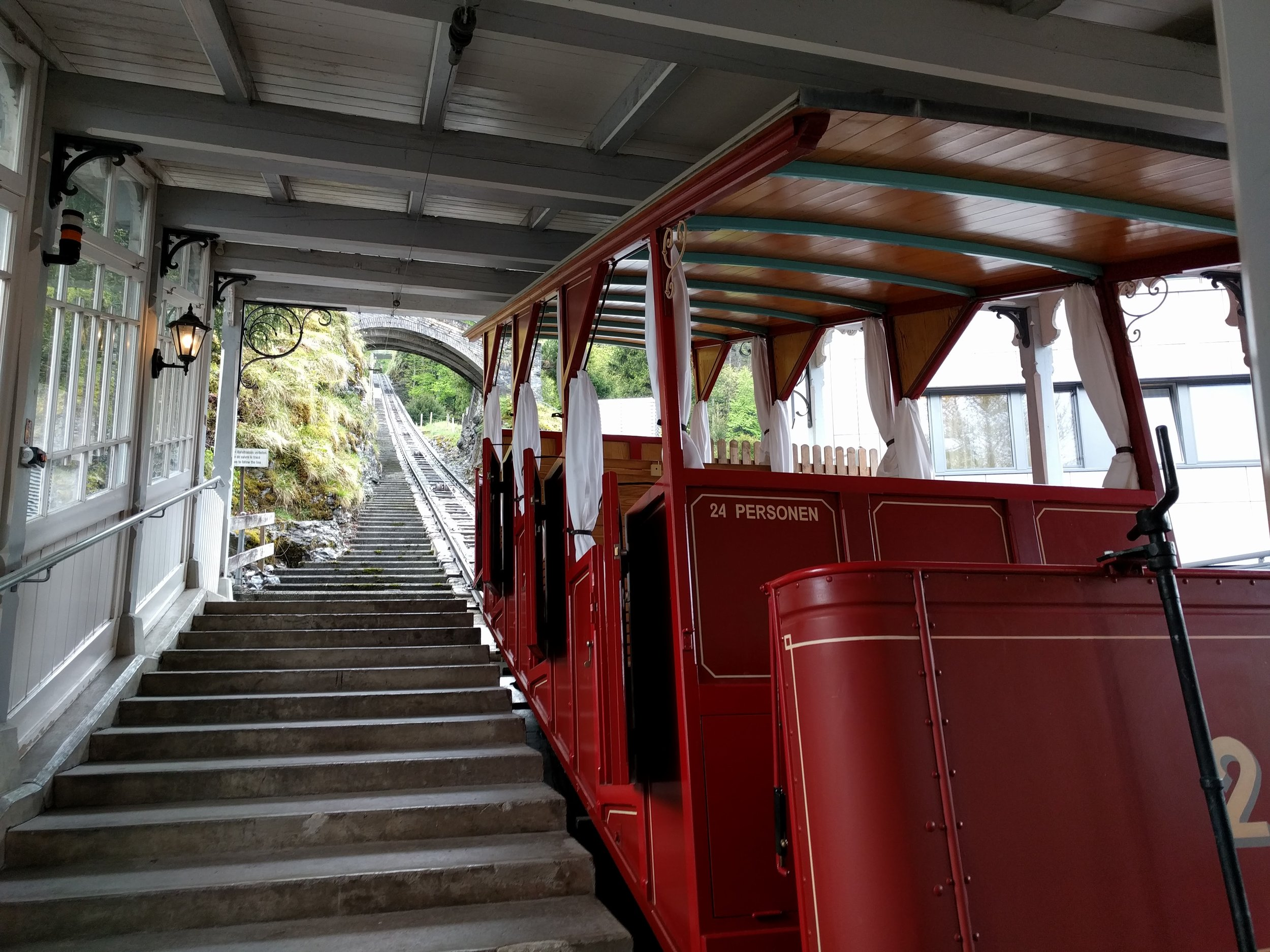 You take this tiny, open-air tram—which is 100 years old and which made its first run of the season when I stepped on. It usually opens on May 15, but because of good weather this year it was able to open on May 4—the day, 126 years ago, that Holmes and Watson decided to take a leisurely stroll.In case you're wondering, yes, I did have my eyes closed for the entire six-minute ride.