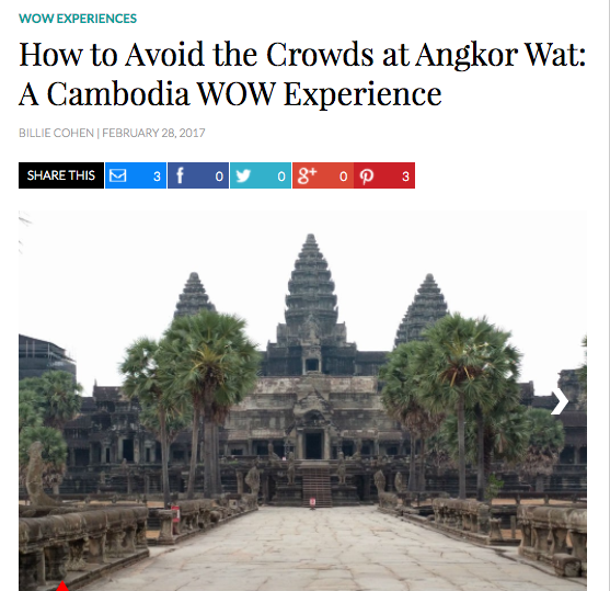WOW experience Angkor Wat