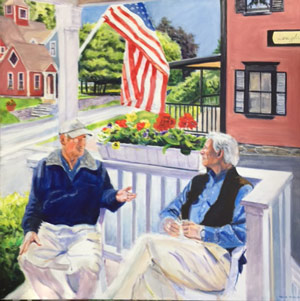 "Vermont Conversation 48 x 48"" Acrylic"