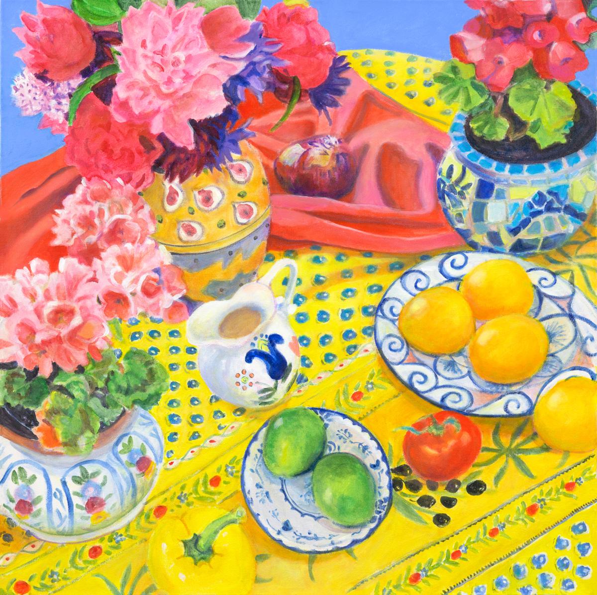 """Matisse Morning II 36 x 36"""" Acrylic"""