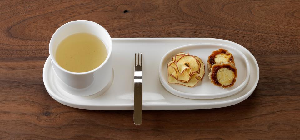 Tea set for inflight meal concept