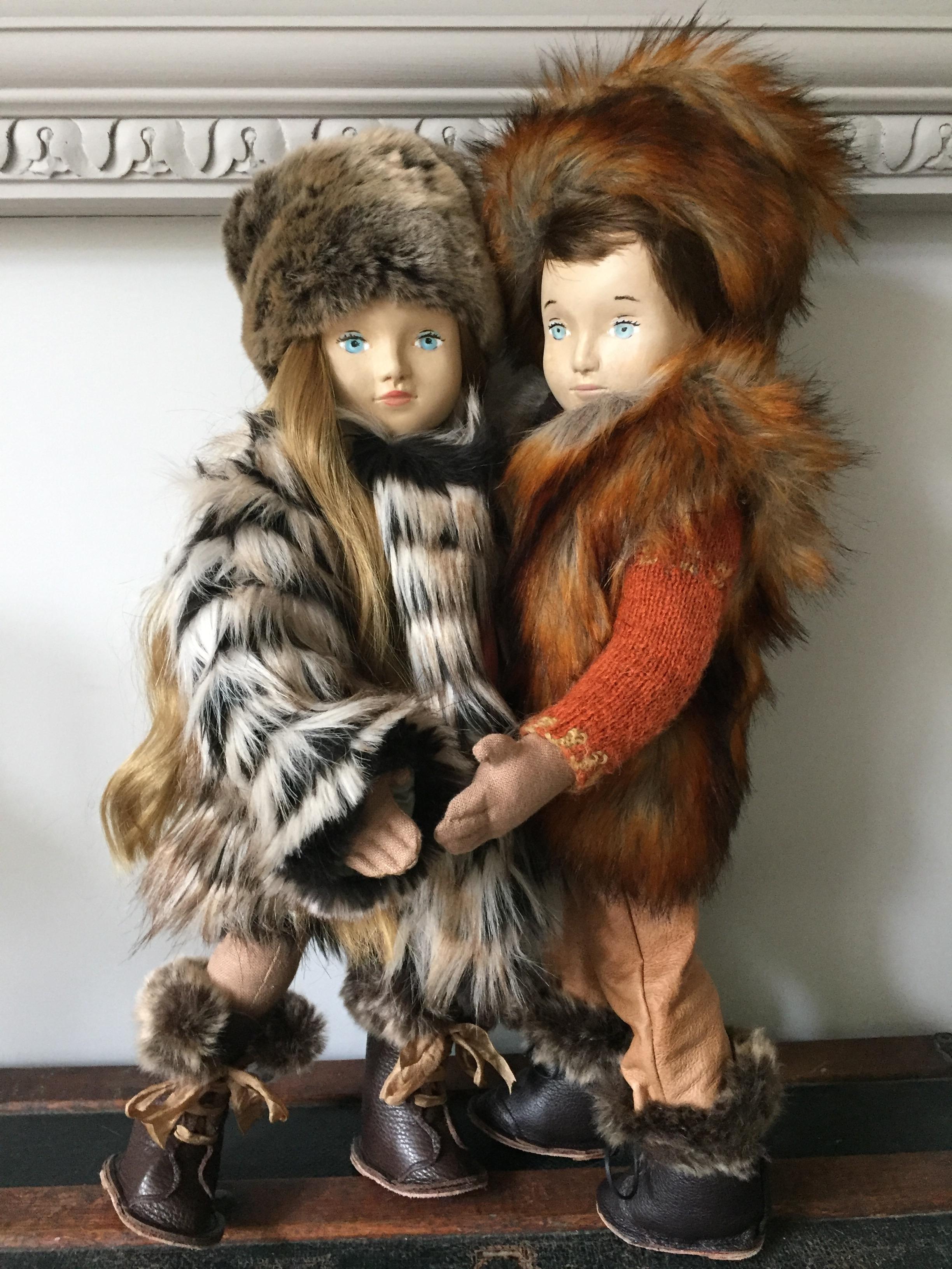 Nini dolls viii and ix Russian Boy and Russian Girl
