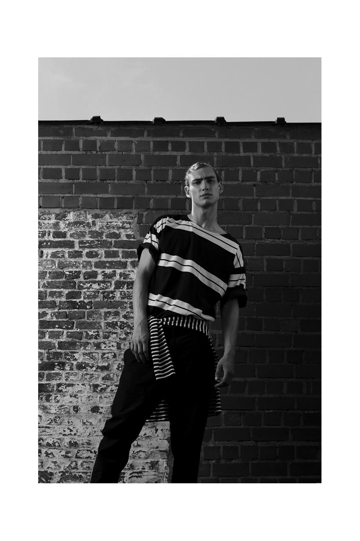 / top by PAUL SMITH / tee by FILIPPA K / pants by HACKETT /