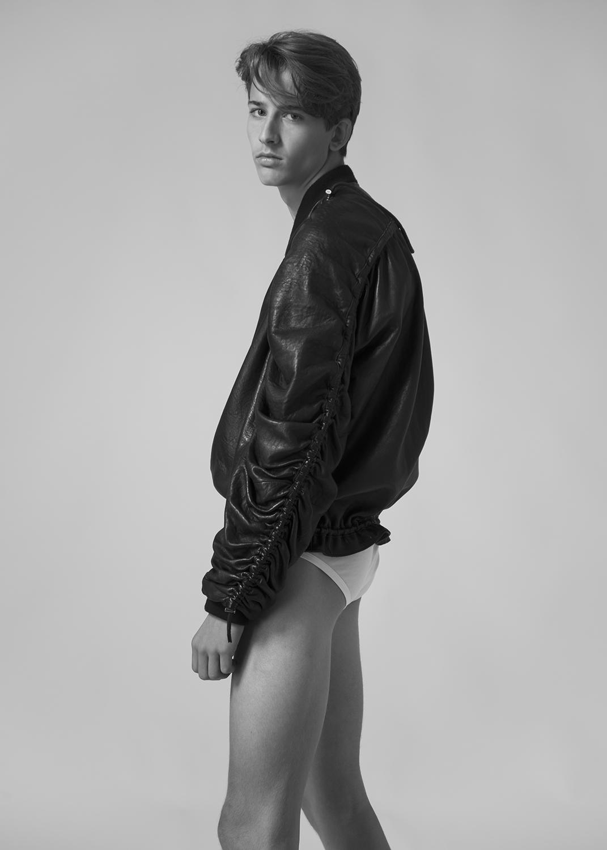 jacket by Y/PROJECT / underwear by ZIMMERLI