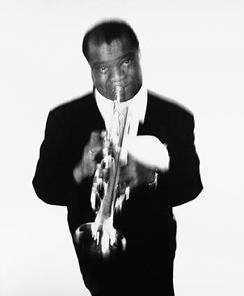 AVEDON Louis Armstrong, musician, Newport Jazz Festival, Newport, Rhode Island, May 3, 1955_GG.jpg