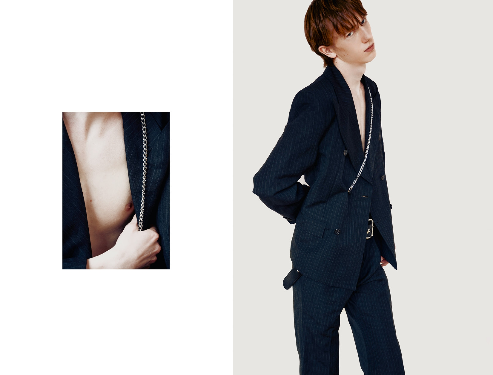 Suit  Gosha Rubchinskiy   and chain  Underground