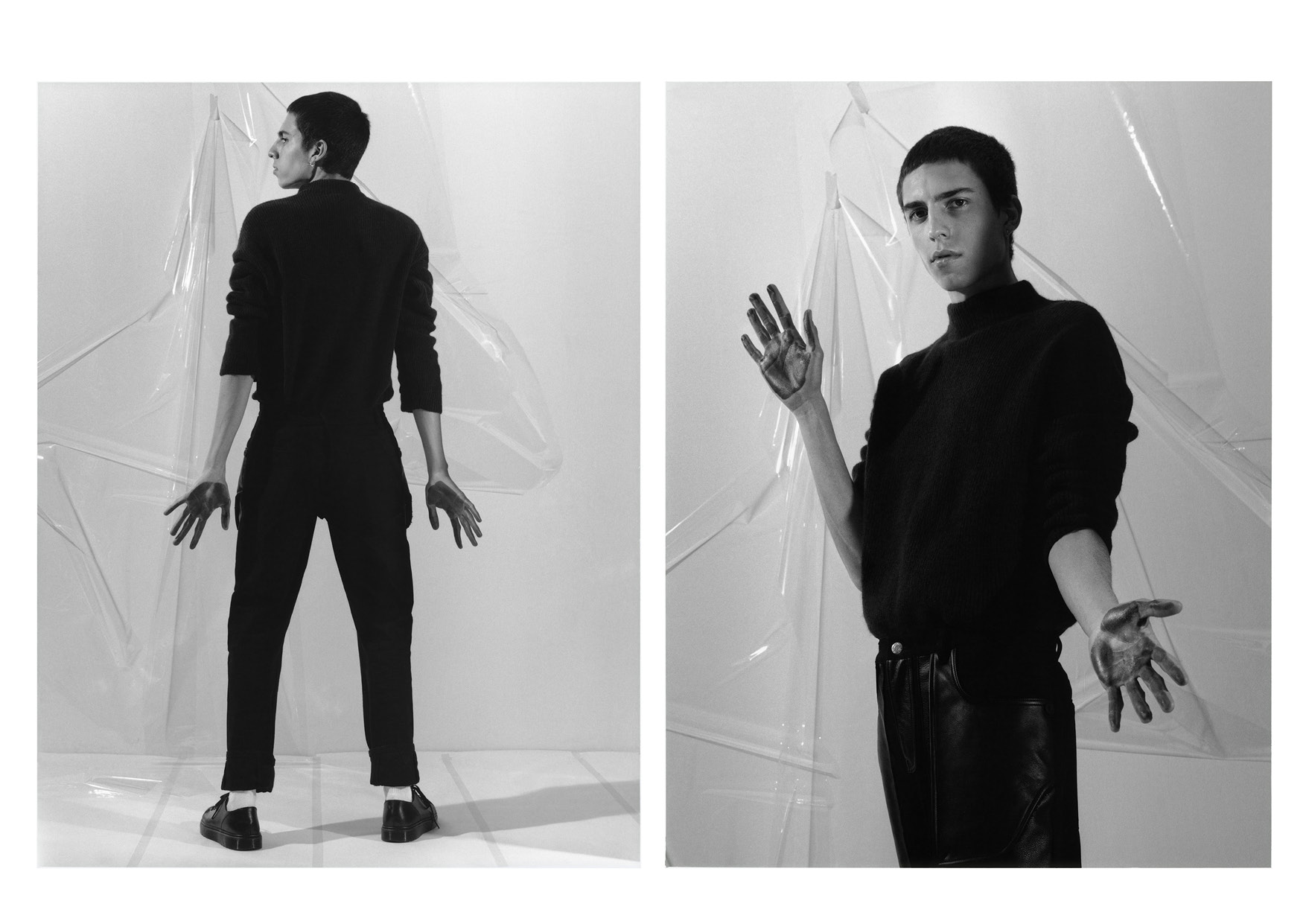 Roll Neck  Thomas Maier,  Trousers  Helmut Lang , Shoes Model's Own