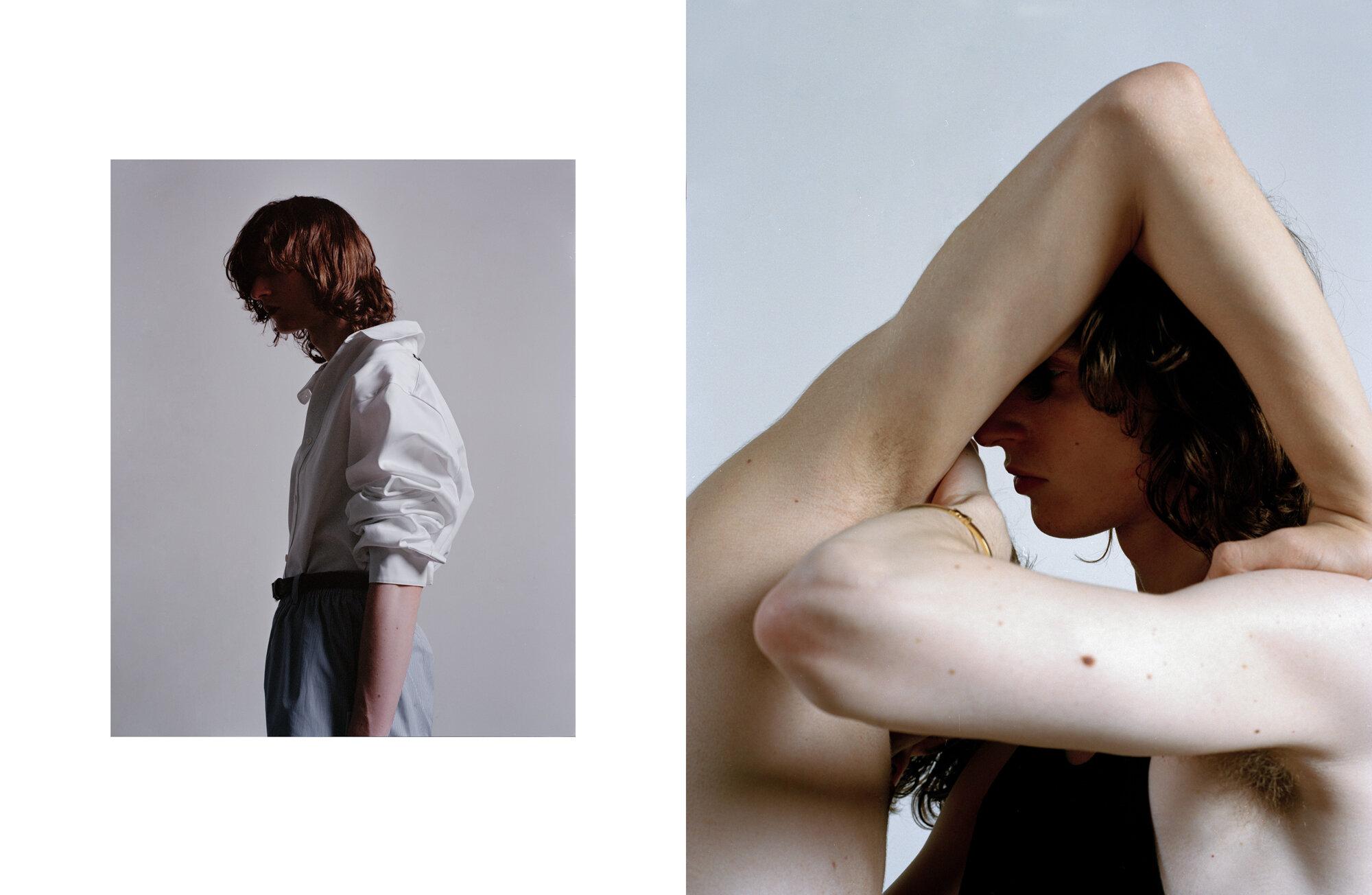 Left Shirt Balenciaga, short Alexander Wang and belt Fendi  Right Bracelet Alan Crocetti