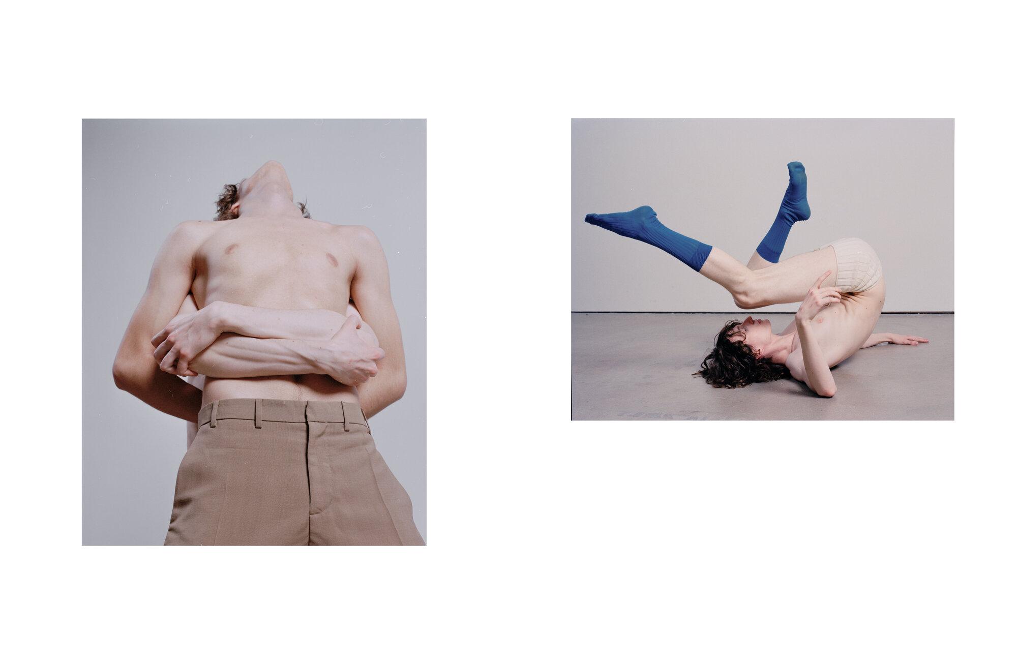 Left Pants N°21  Right Shorts Ludovic de Saint Sernin and socks Falke