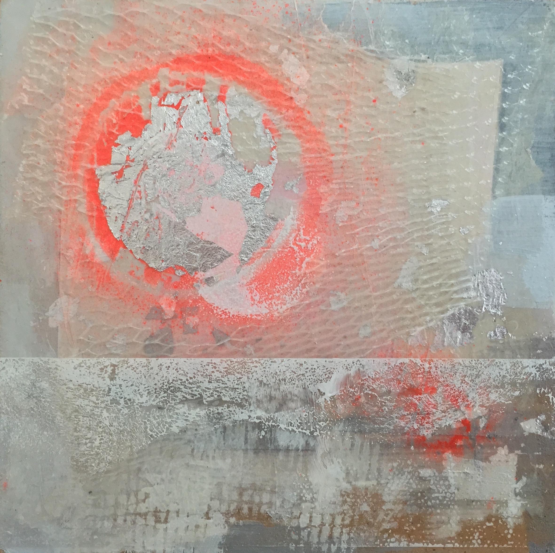 "Arctic Light 2    6""sq. Mixed Media on Wood Panel"