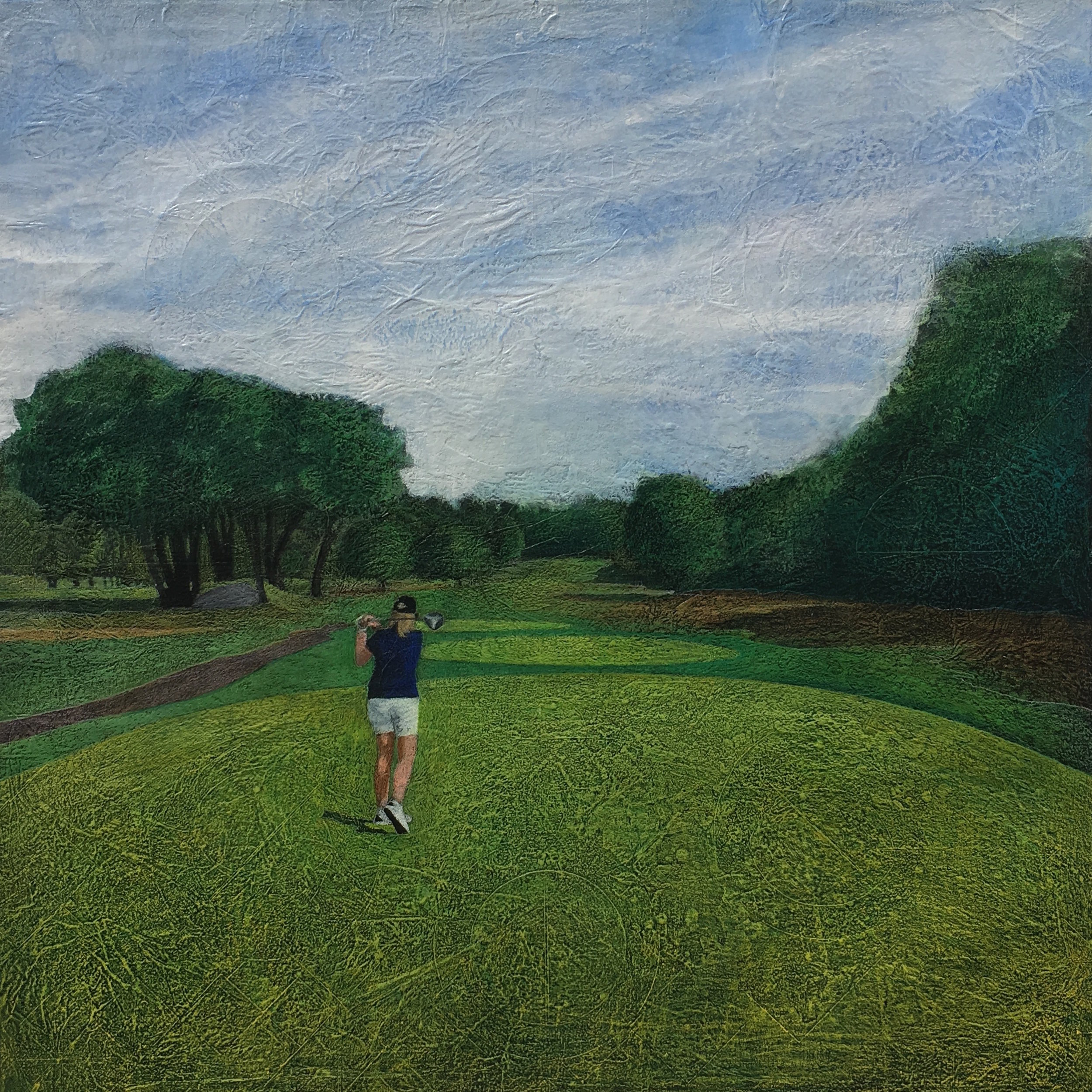 Second Hole    30'sq.  Mixed Media on Canvas