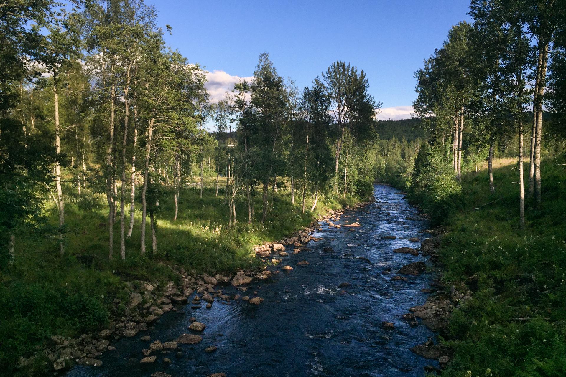 Denne elva starter ved Katnoshytta og renner ut i Store Sandungen.