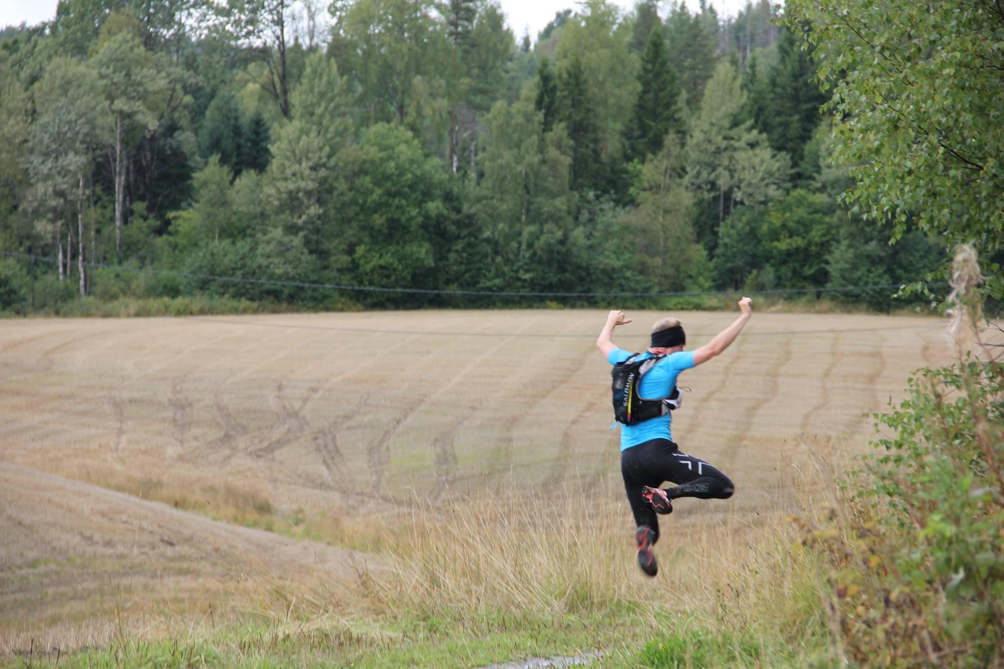 I starten av løpet i 2014 var jeg fortsatt spretten. Foto: ØTC - Flyktningeruta.