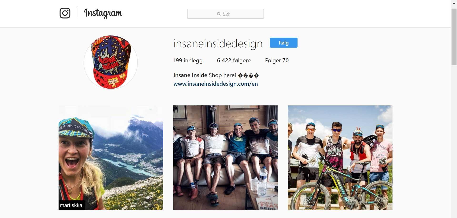 Instagramkontoen til Insane Inside viser frem løpemijøet på en gøyal måte. Gründer og designer er løpefotografen Martina Valmassoi i første bildet til venstre. Hun kommer fra en landsby, i Dolomittene i Italia.