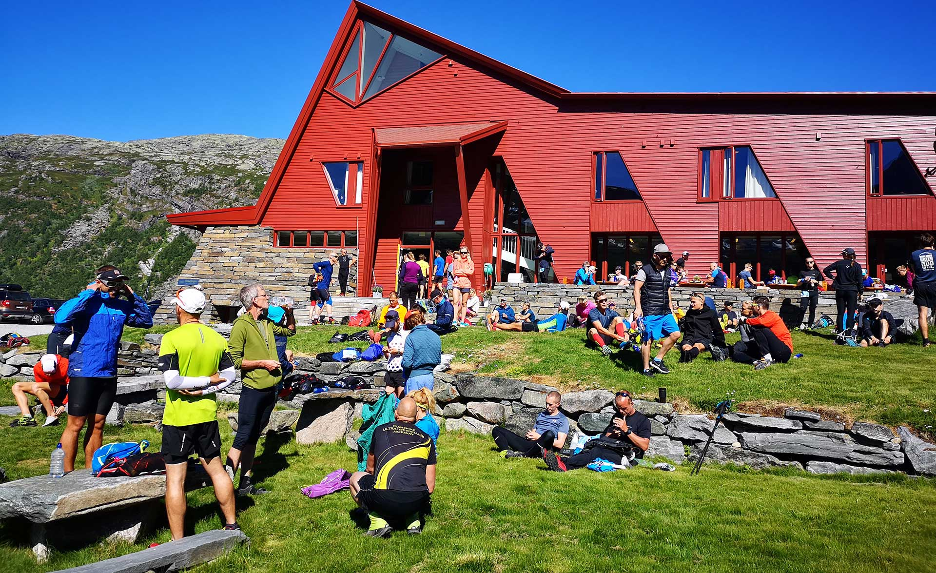 På Turtagrø har de lagt ut den grønne løperen.