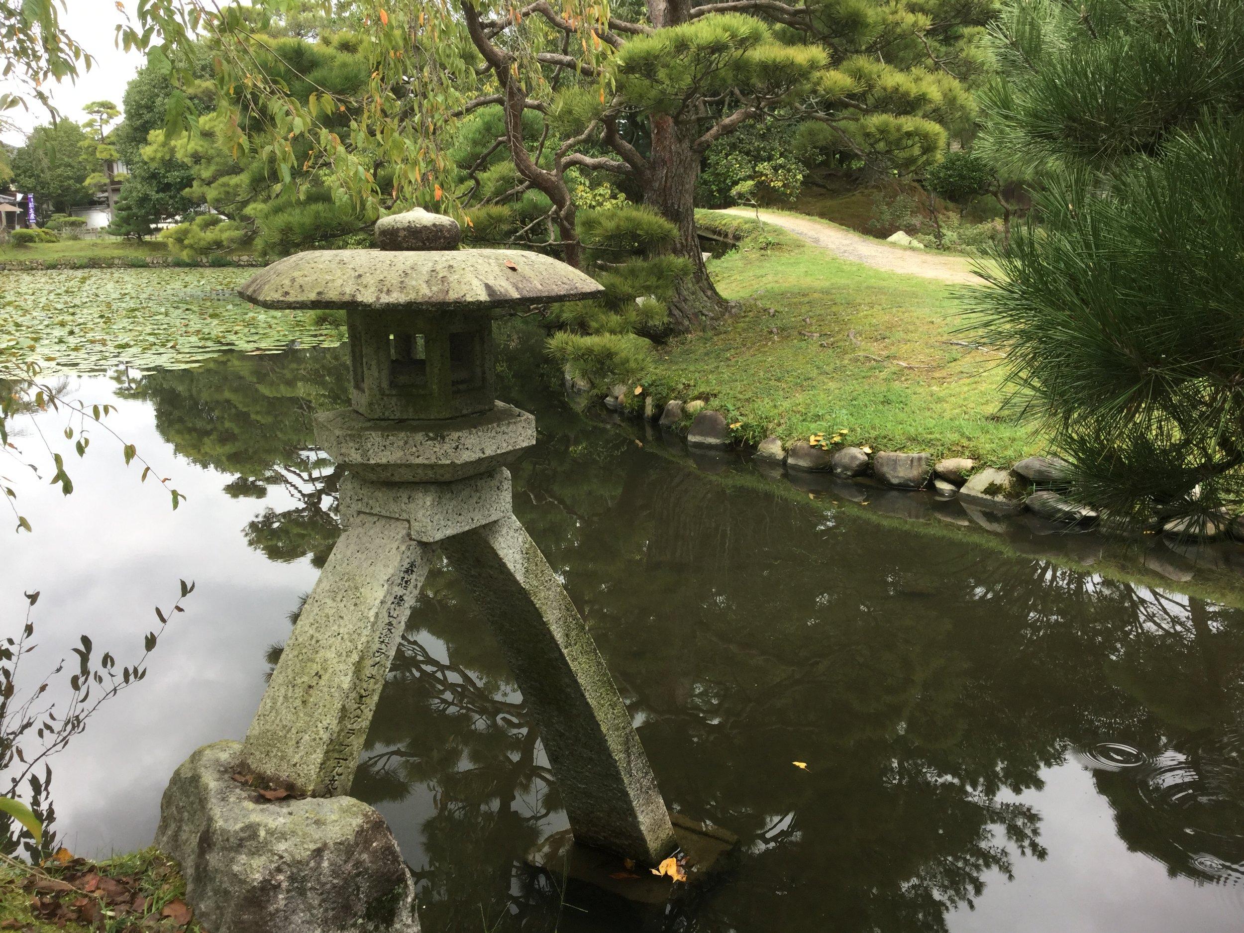 Ishidoro lantern by the tea pavilion