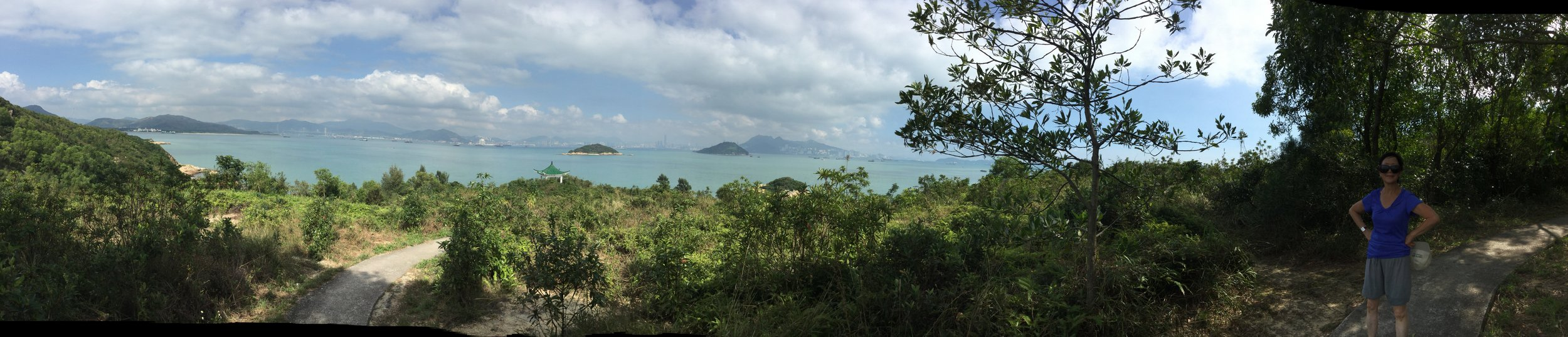 Panorama from one of the Peng Chau hikes.