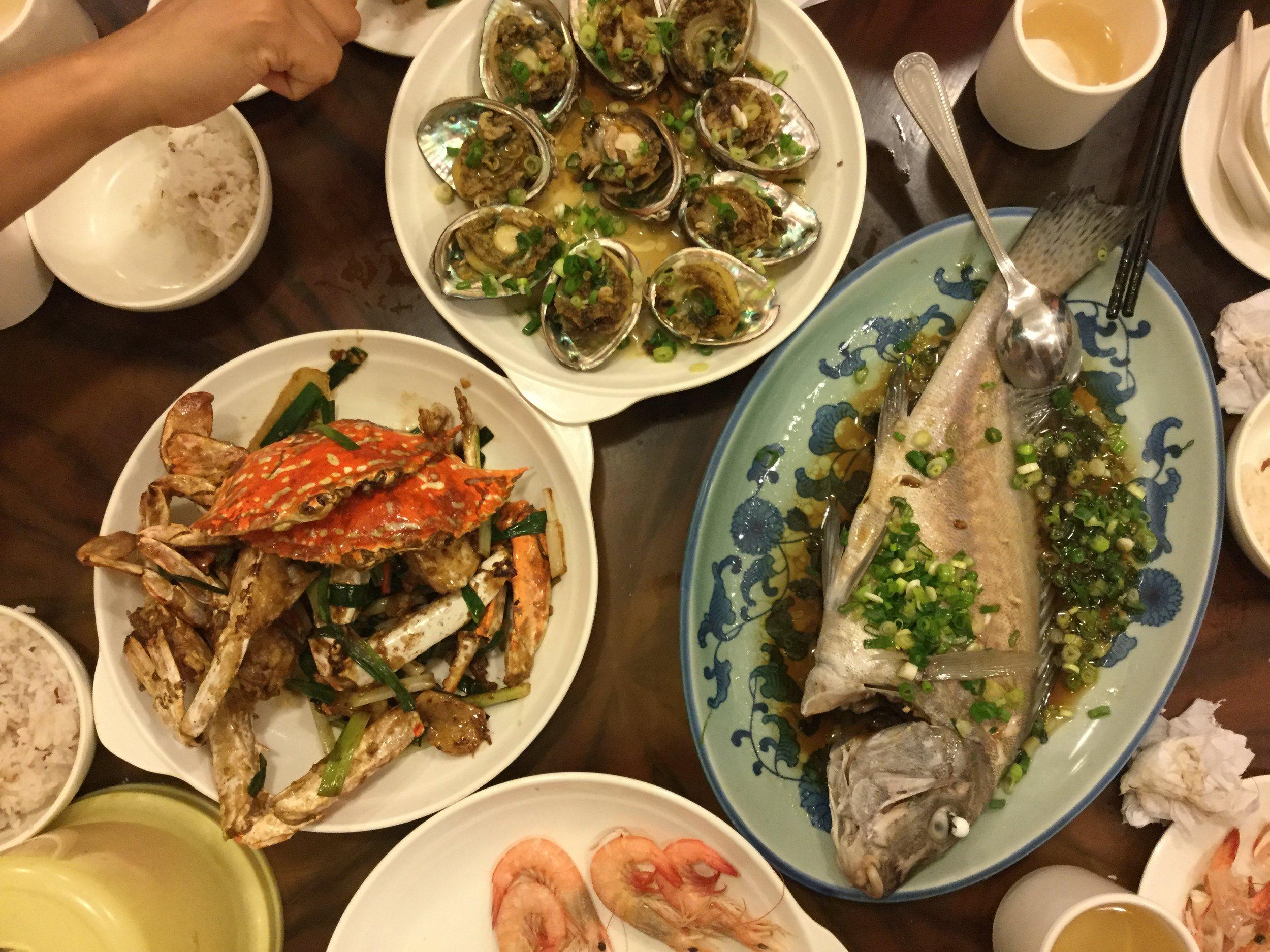 Fabulous go away dinner at Peng Chau
