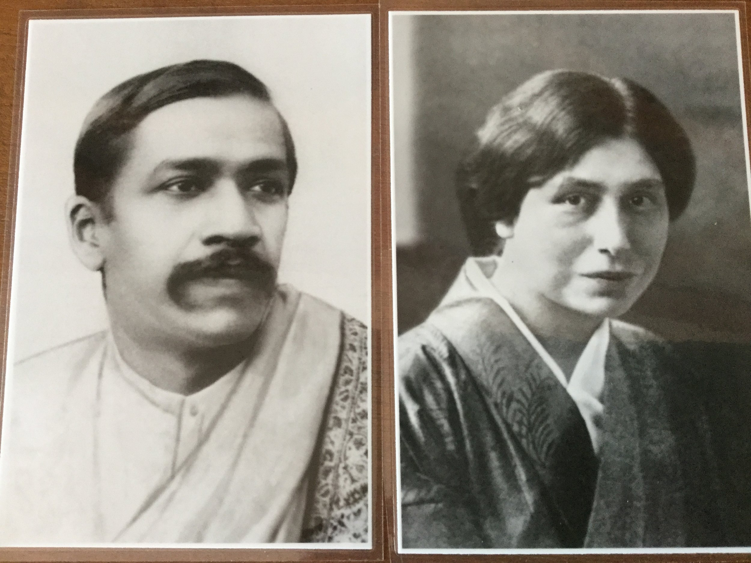 A young Sri Aurobindo and Mirra Alfassa (later called Mother of Pondicherry)