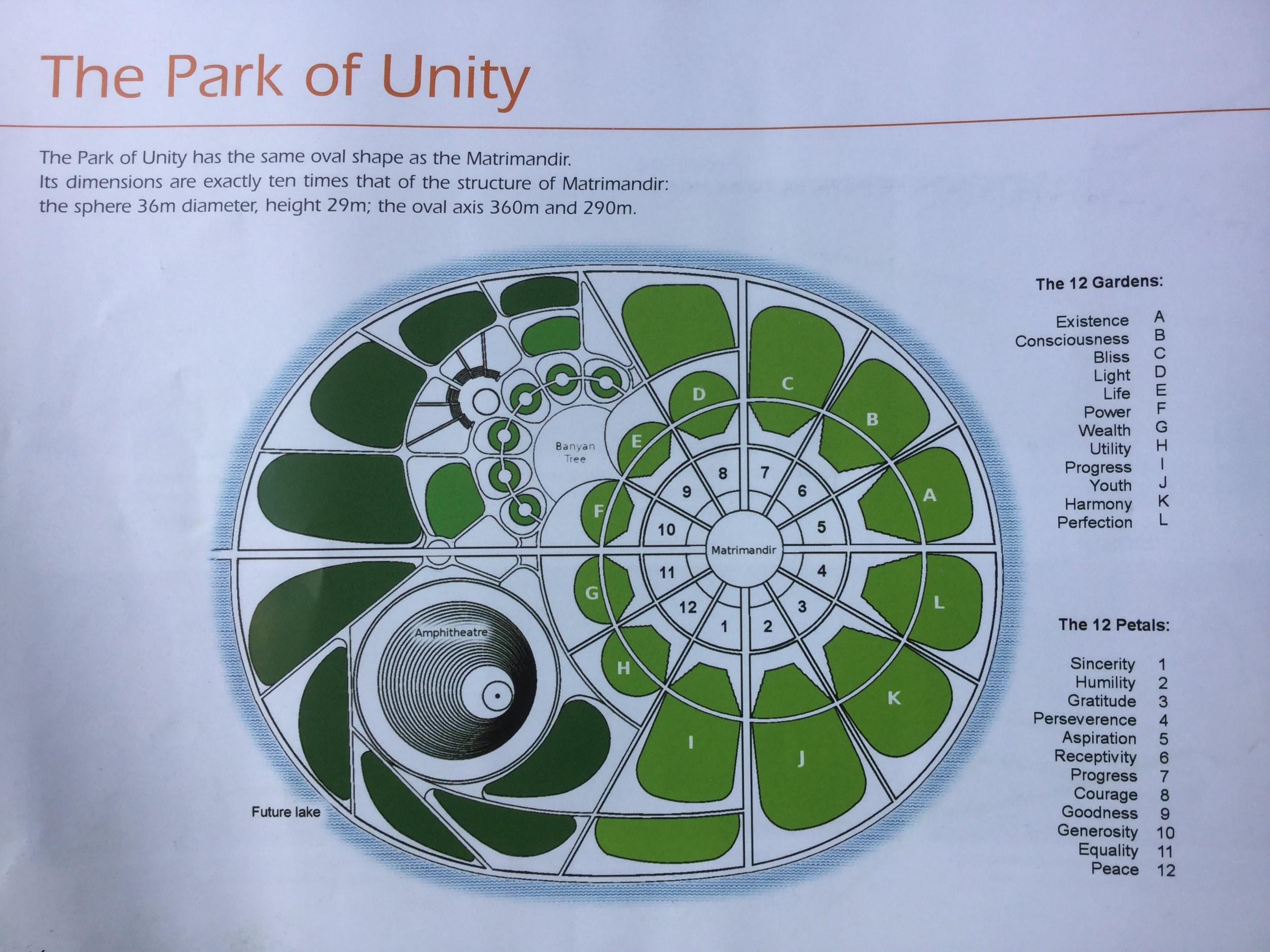 This is an overall diagram of the Park of Unity. It is a silent park.