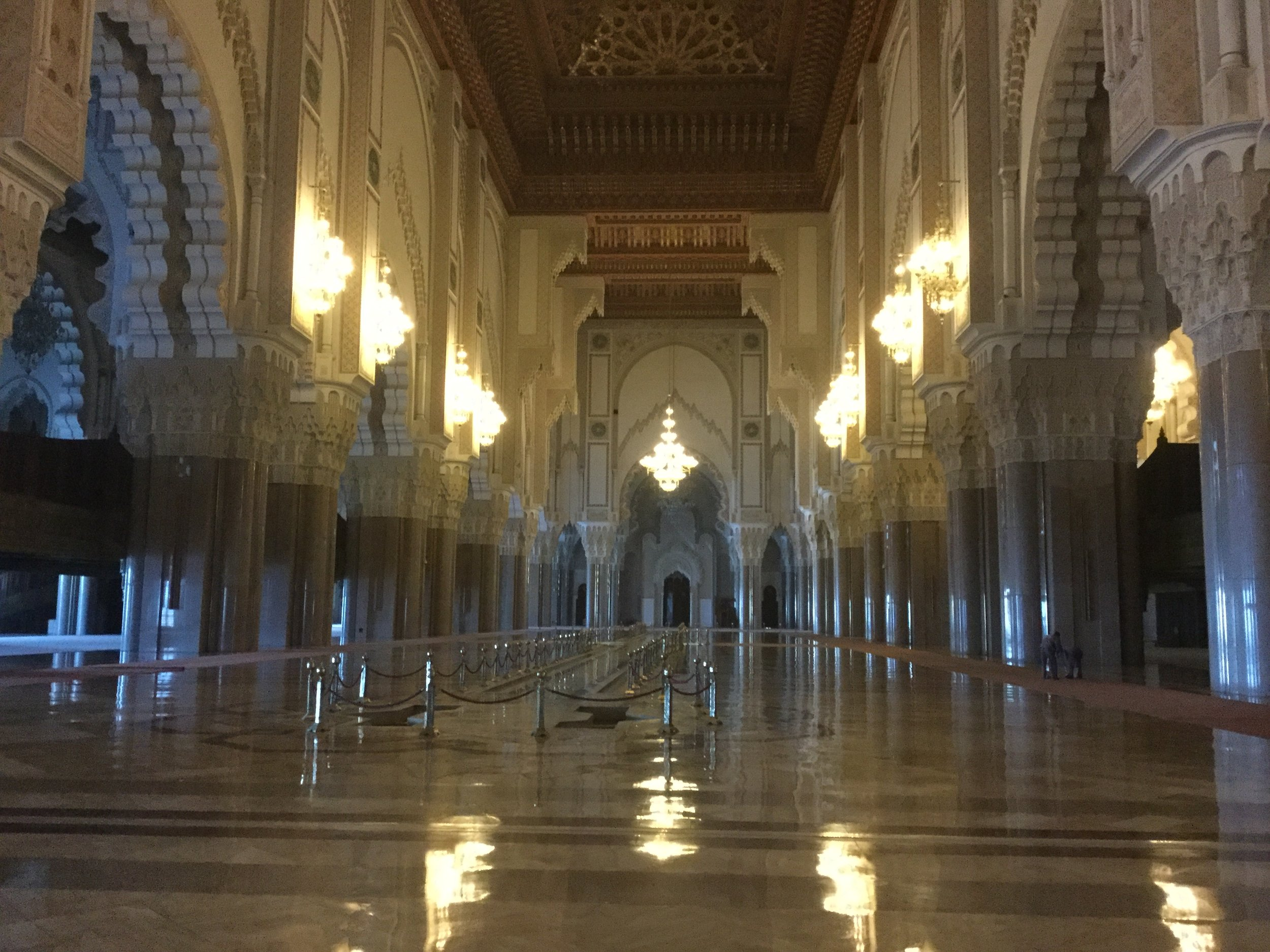 The mosque is like a palace inside. It is really really beautiful.