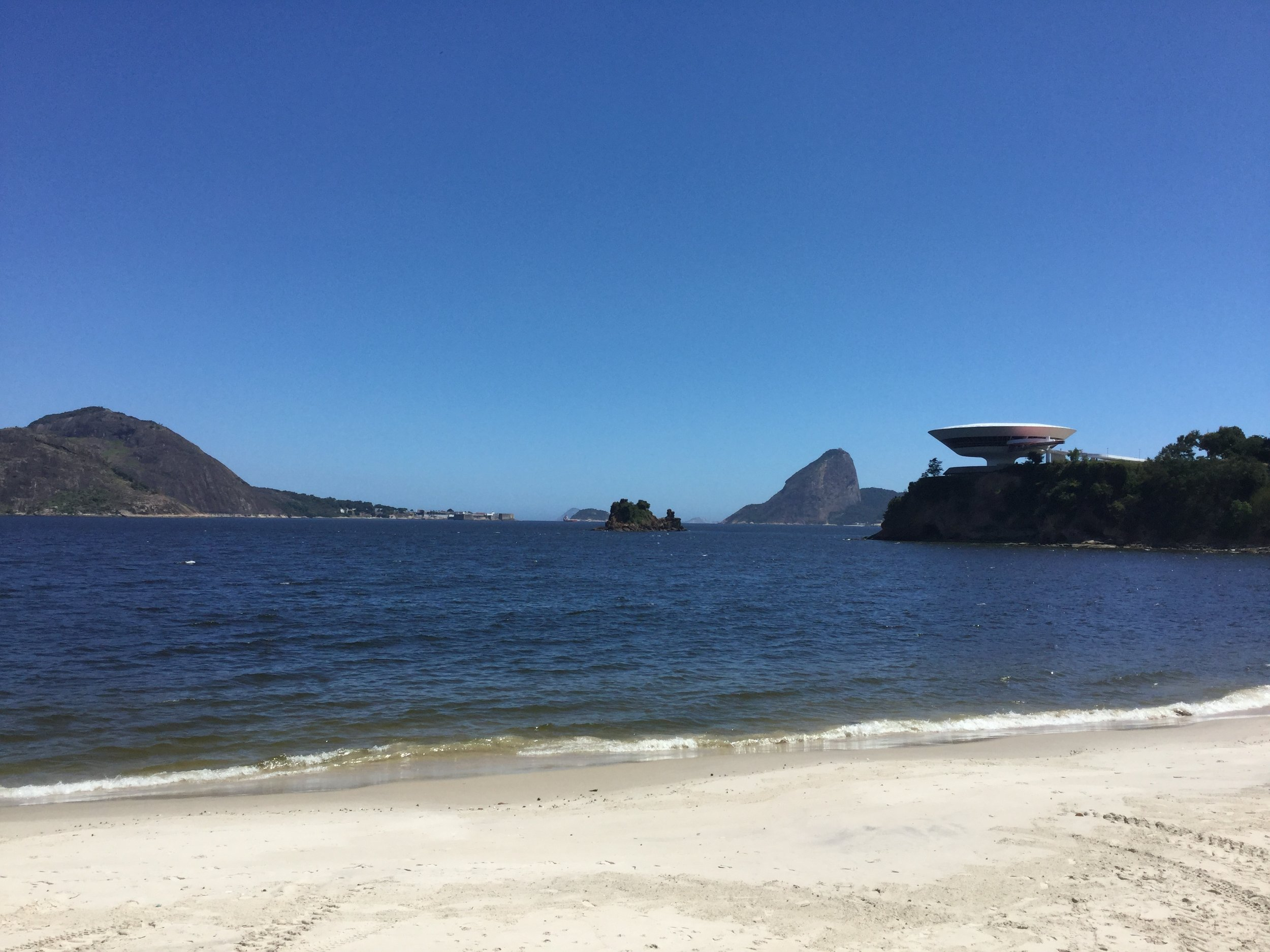 The setting is epic - it sits on a cliff across the bay from Rio de Janeiro. (That is the Sugar Loaf mountain in the background).