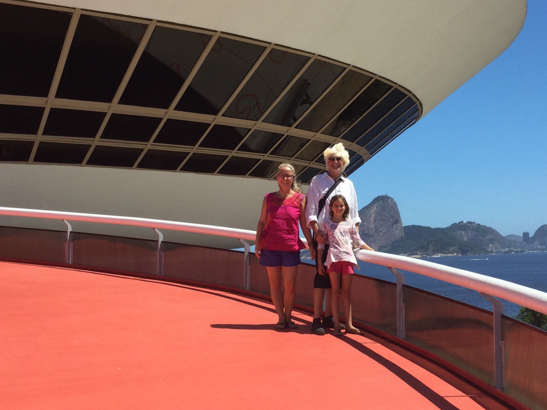 Happy tourist family for Canada. Lili kept thinking how great the ramps would be for her waveboard!