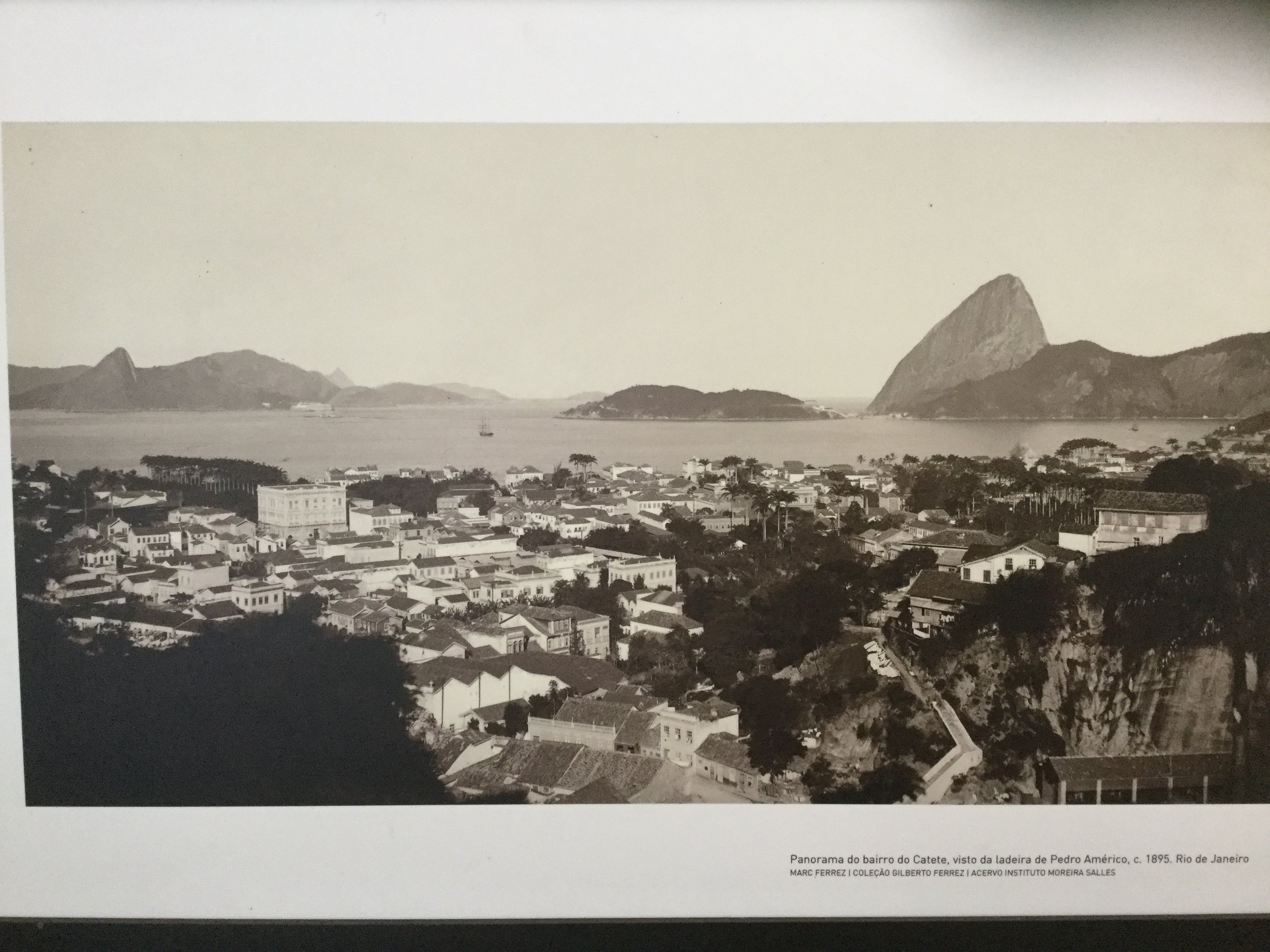 This very cool old photo shows the building they way it was it as in the Rio landscape in 1895. We are staying on the very right of this picture at the base of the hill.
