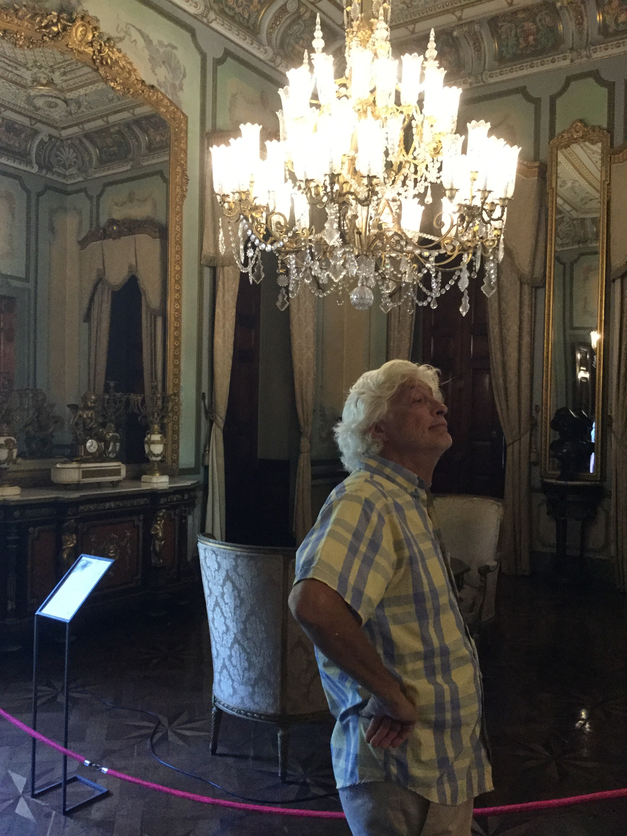 Dante looking presidential in the French (blue) Room.