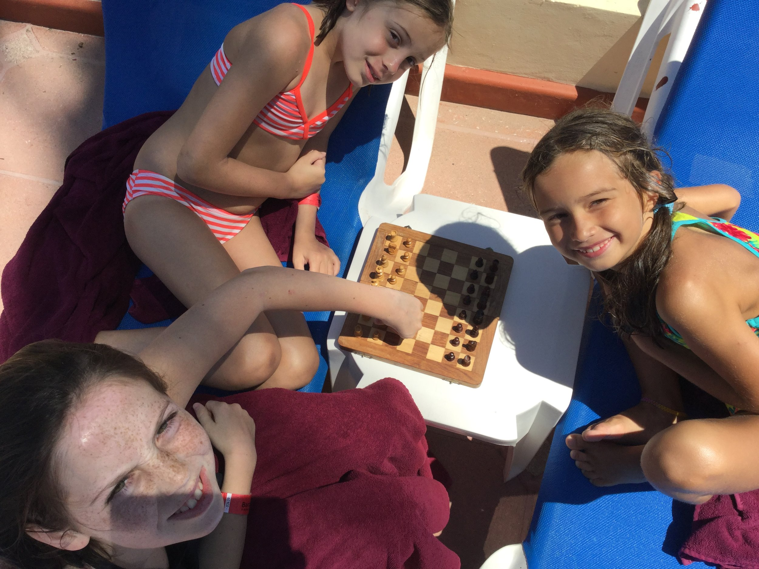 The girls played chess.