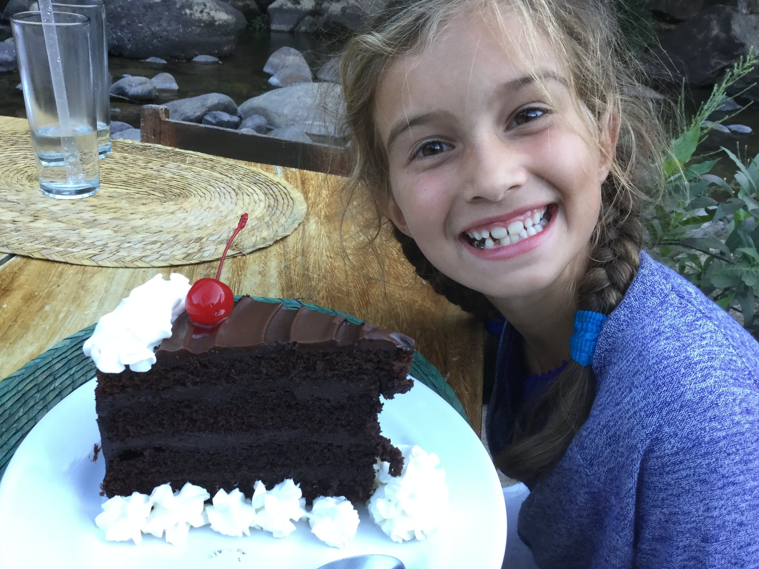 And the chocolate cake was pretty impressive as well.