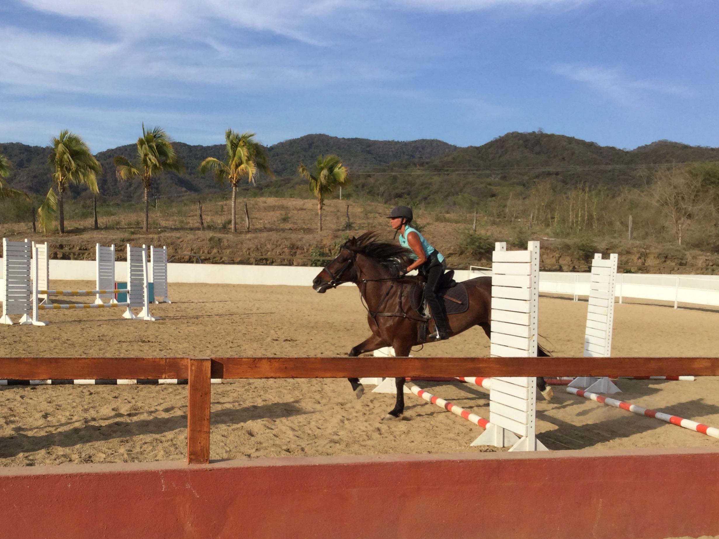 Karen doing a beautiful jump.