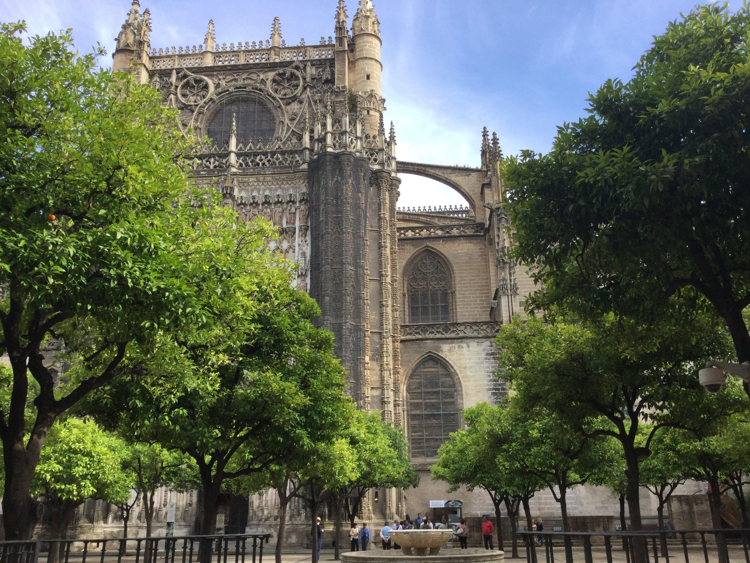 El patio de los naranjas at the cathedral.