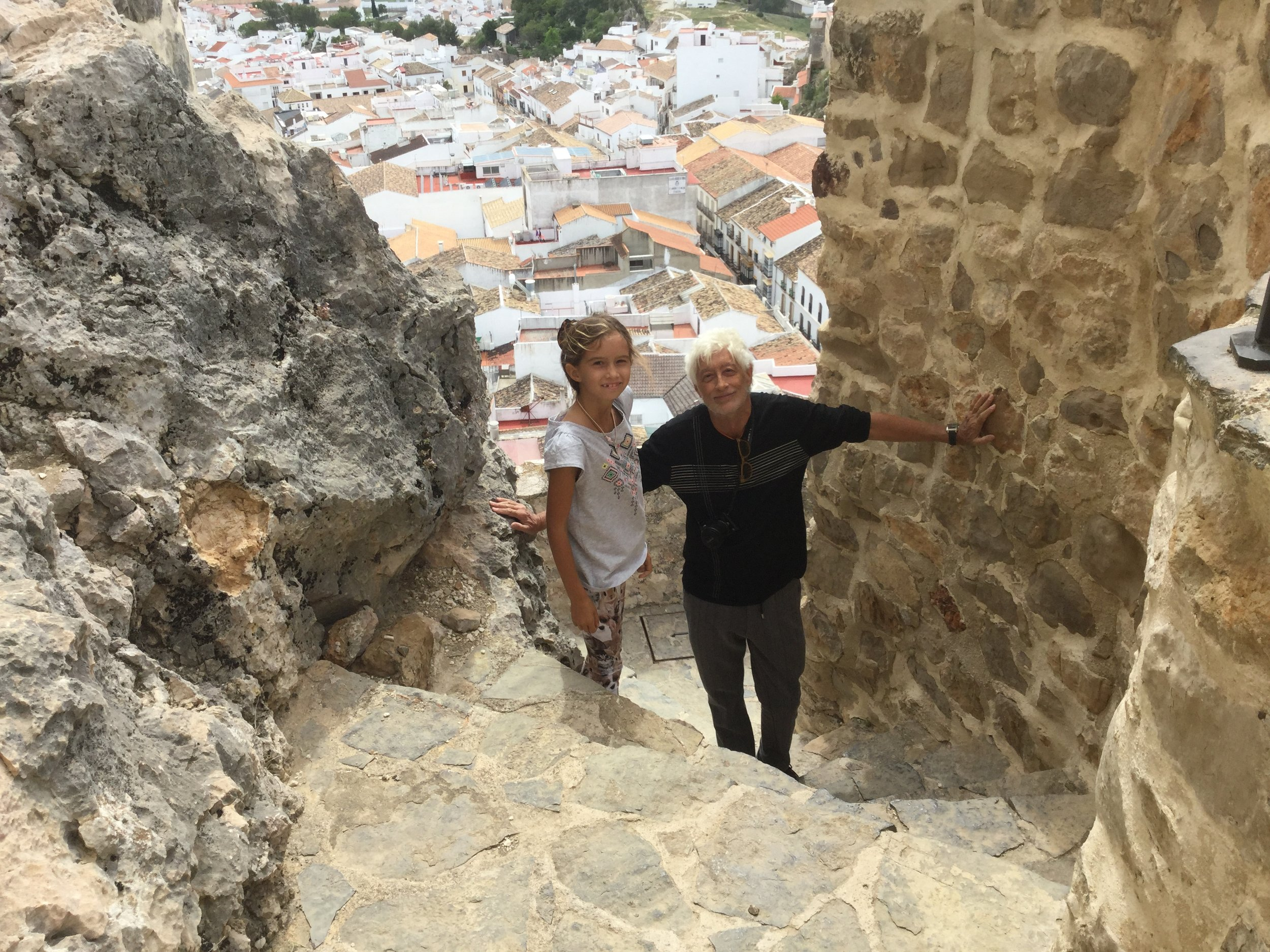 It's a healthy climb to get up to the castle. A great workout. The town below is so beautiful from this angle as well.
