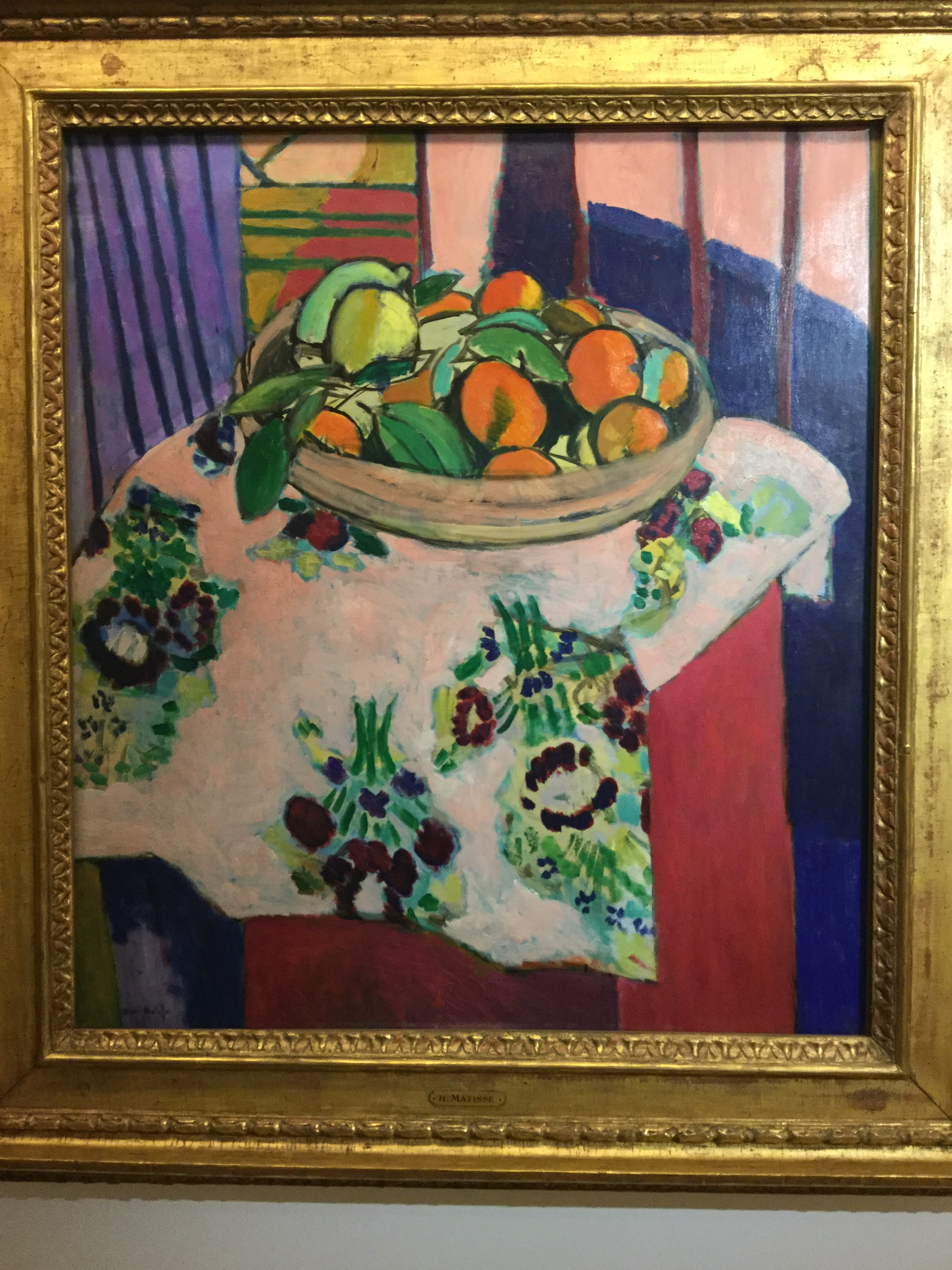 This still life with fruit is by Henri Matisse, but it was in Pablo Picasso's private collection so we saw it at the Picasso museum. We talked about composition on seeing this piece - it is a bit unusual in that the entire bottom half of the image is not of the main thing (fruit). Maybe Matisse used this for extra emphasis...