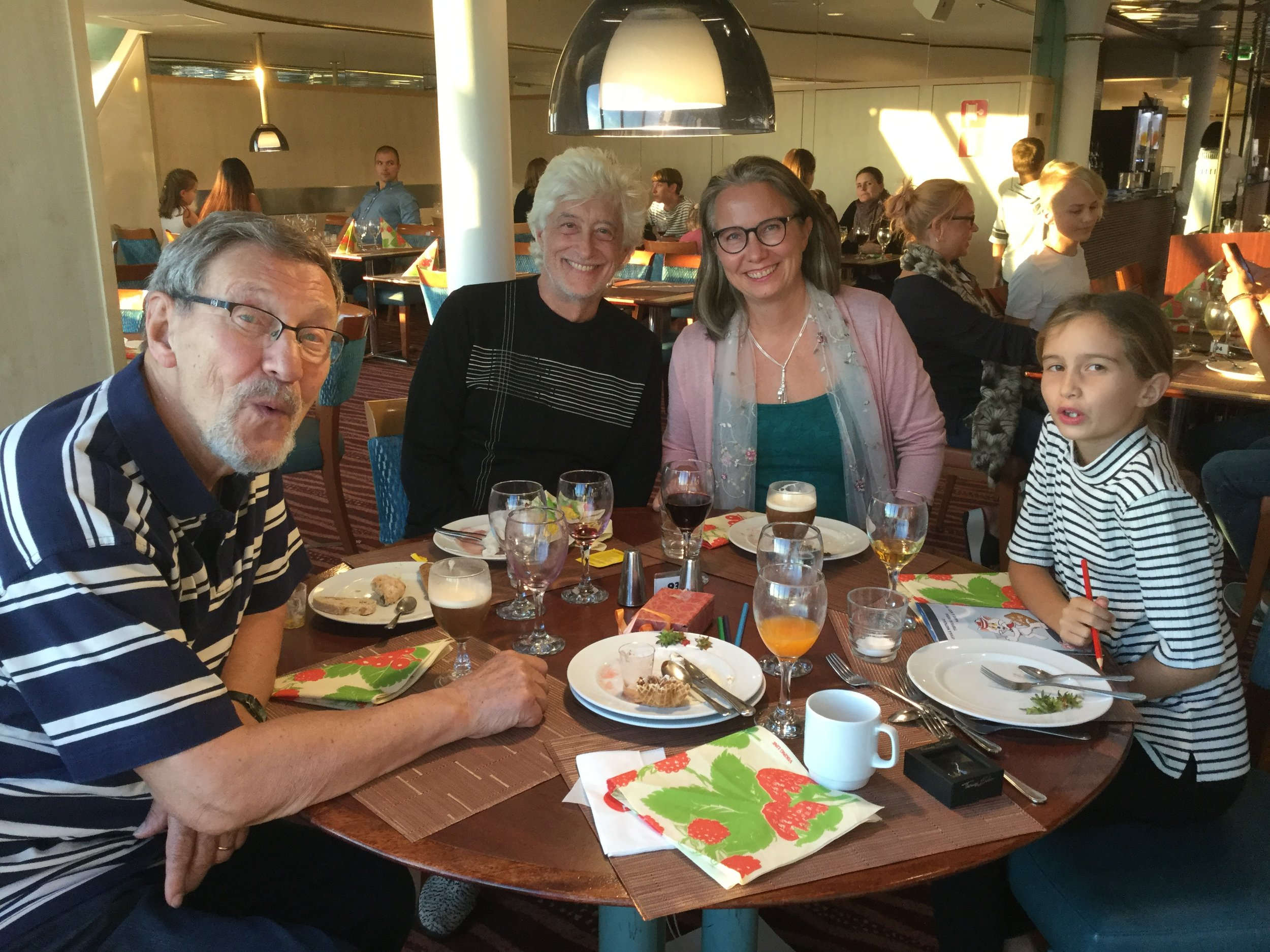 My abundant birthday dinner was enjoyed at the bow table on Viking Gabriella...