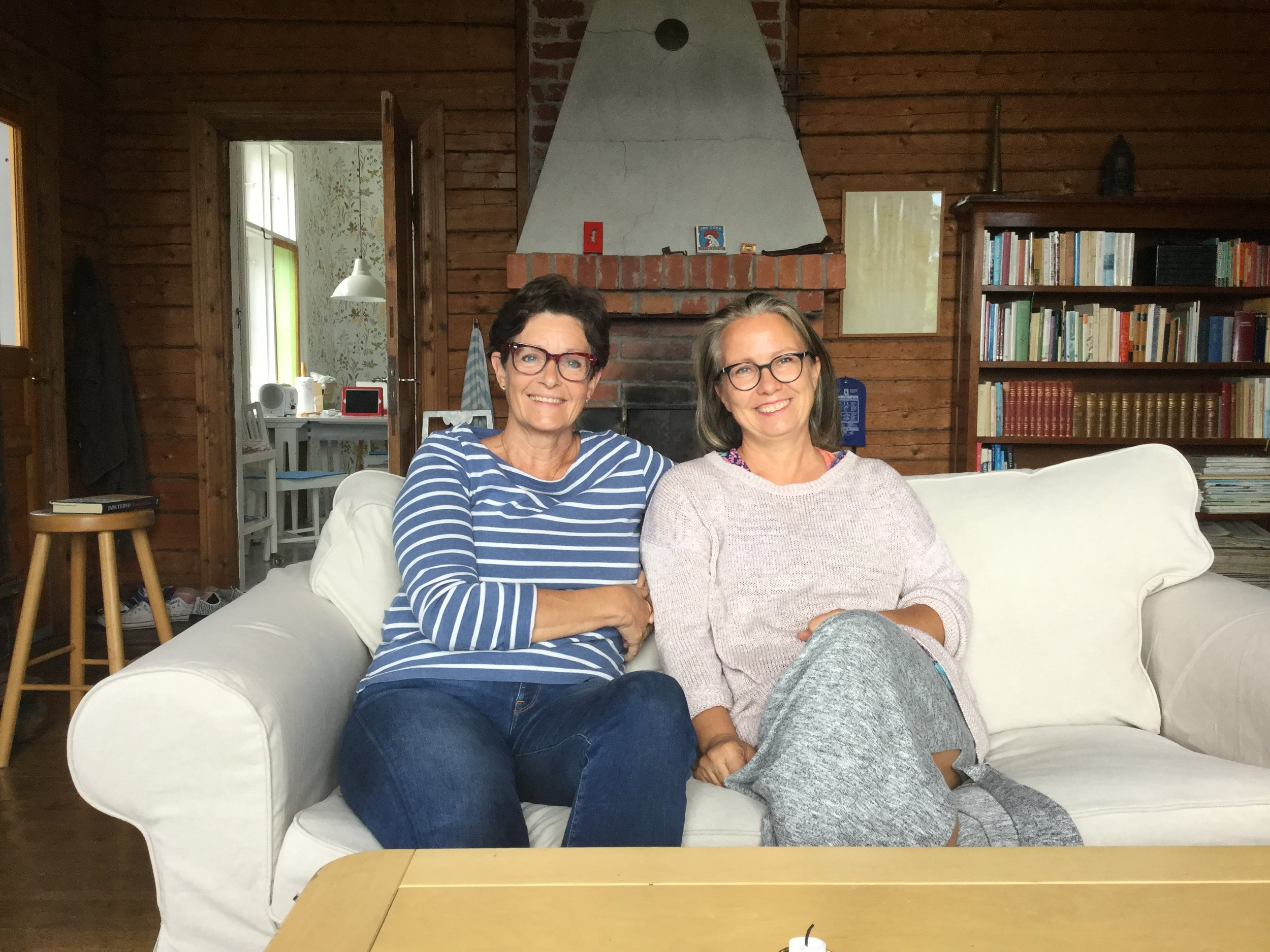 Me and Tove at her wonderful summer home in Vessö.