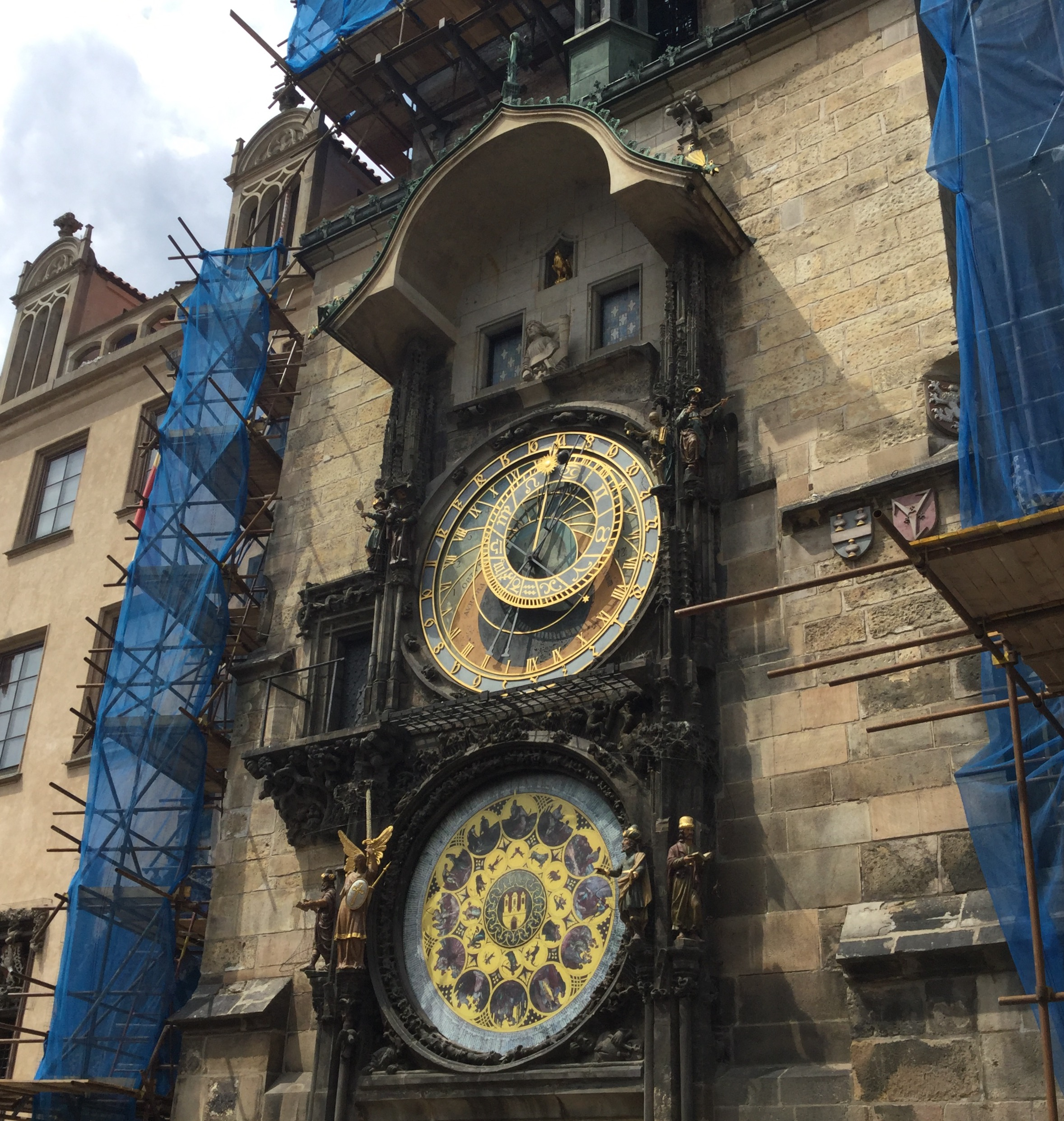 The Astronomical Clock. We are staying about five minutes away from it.