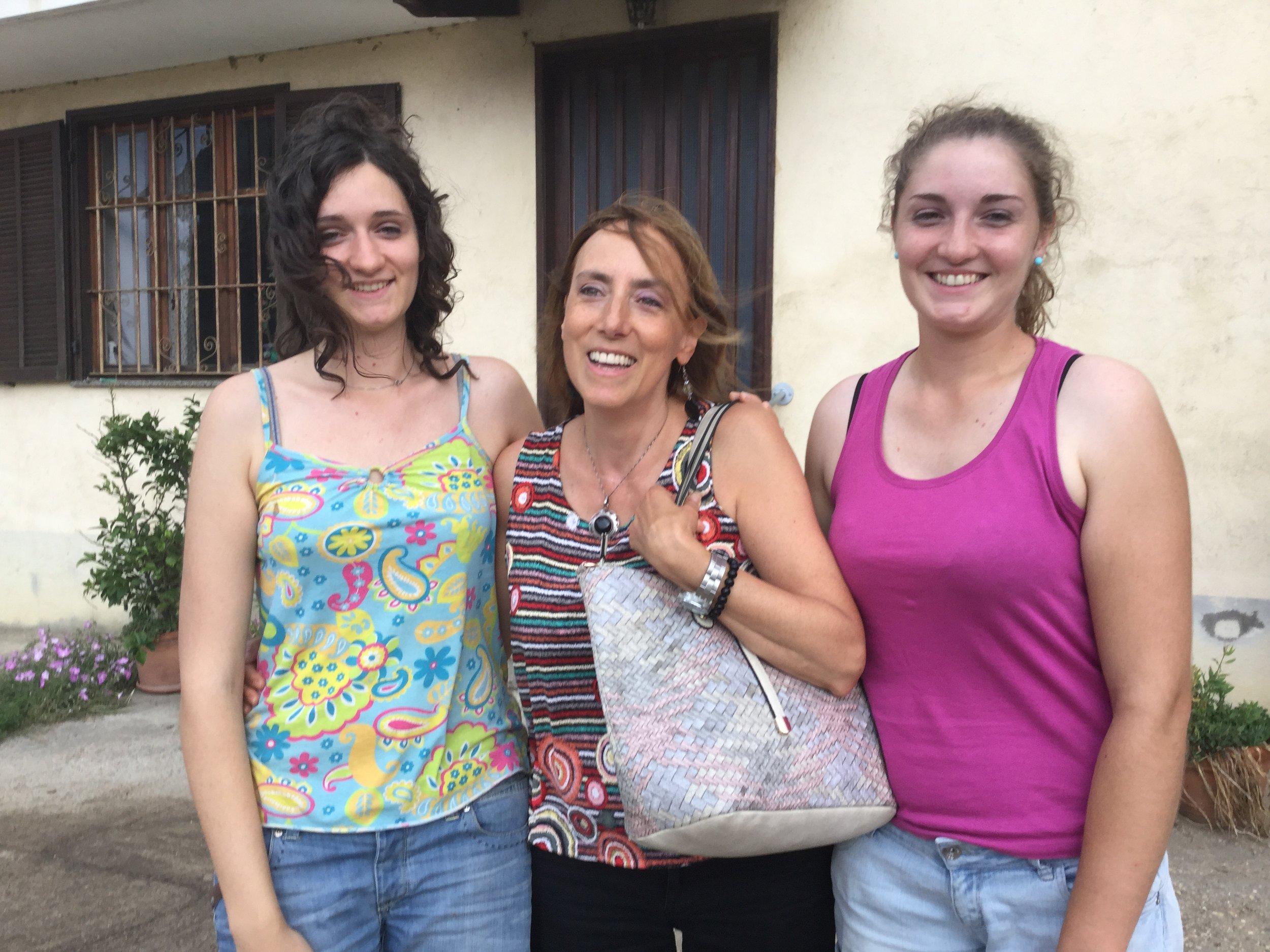 Lidia and her cousin Fiorella's daughters Roberta and Cristina.