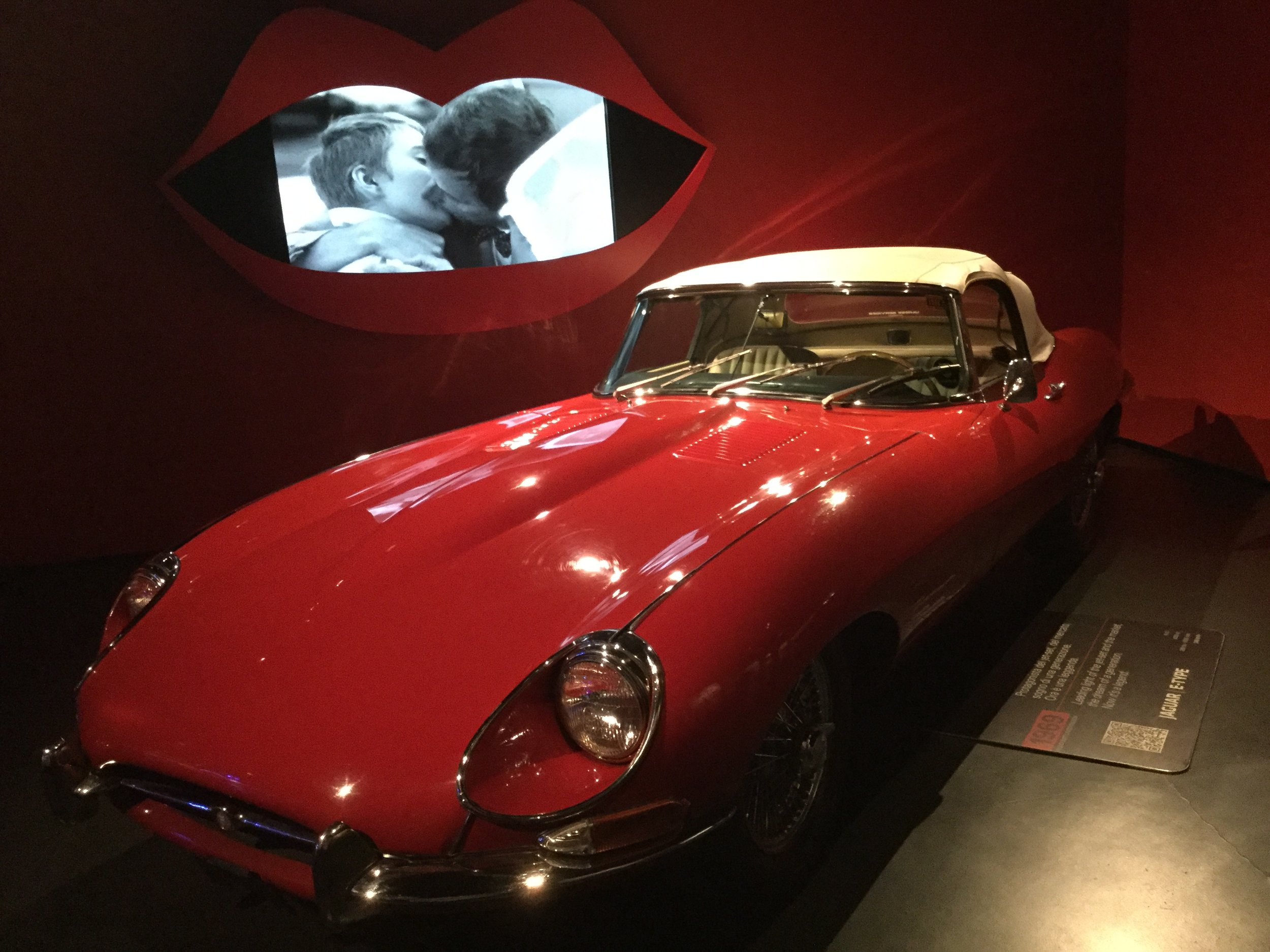 This Jag was portrayed with movie clips suggesting it will really get you that girl...